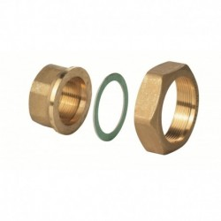 "ALG403B - Латунный фитинг G 2¼"" / Rp 1½"", 100 °C, комплект из 3"